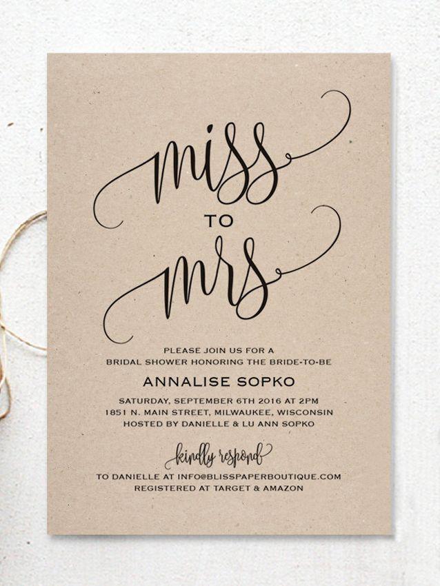Cute  - bridal shower invitation templates
