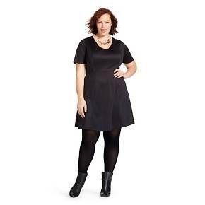 Women's Plus Size Scuba Dress - Ava & Viv