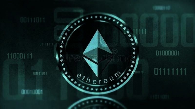 Stock Photo  Image of monetary concept 102981408 Virtual cryptocurrency Ethereum sign In digital cyberspace Virtual cryptocurrency Ethereum sign In digital cyberspace  Au...