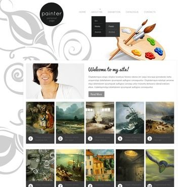 artist portfolio website template web pinterest website