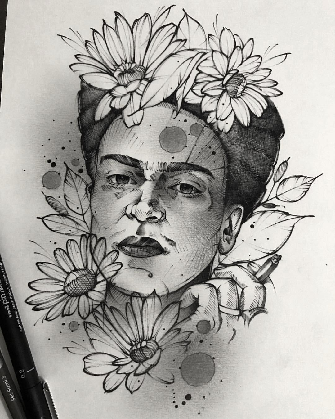Robson Assis On Instagram Frida Kahlo Disponivel Para Frida Kahlo Tattoos Frida Tattoo Frida Kahlo Portraits