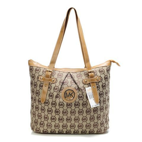 New Michael Kors Handbag MK Square Brown