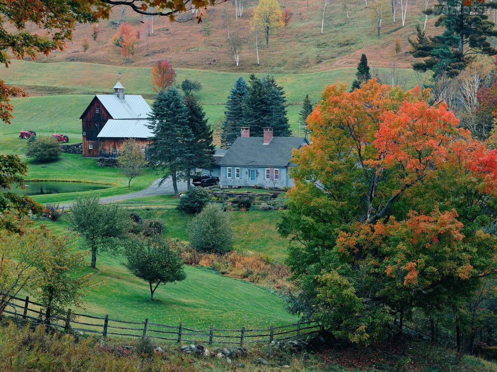 Belas paisagens papel de parede papel de parede - Casas rurales en el campo ...