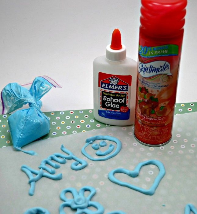 Scented Puffy Paint With Skintimate Shave Gel Melting Crayons