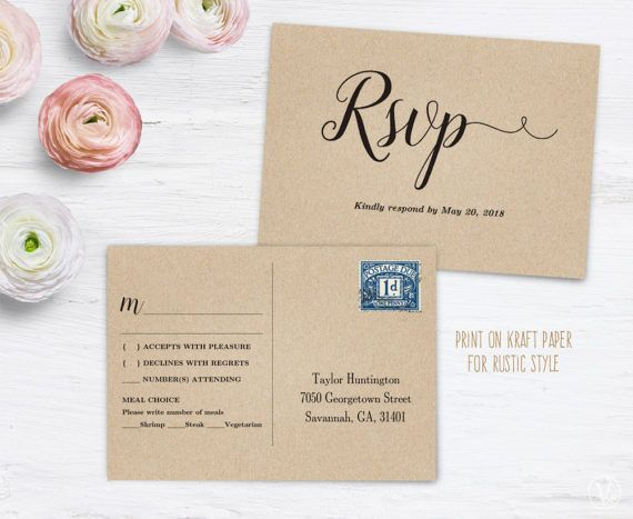 This Is A Printable Rsvp Postcard Template That Is Affordable - Rsvp postcard template