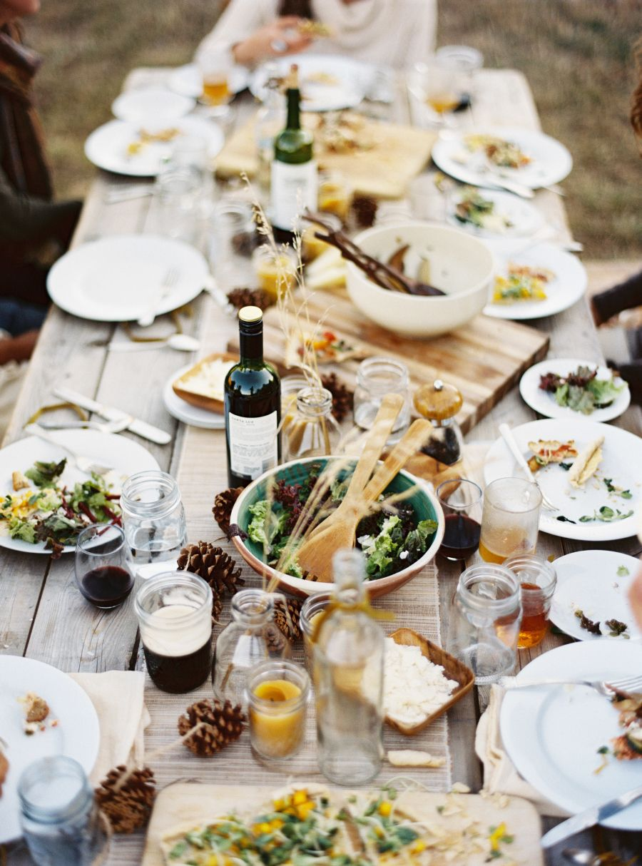 Harvest Dinner With Friends Tables