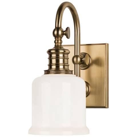 Photo of Hudson Valley Keswick 11″ High Aged Brass Wall Sconce – #8M634 | Lamps Plus