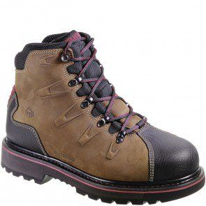 6ae2d7a2c90 W10263 Wolverine Men's Hacksaw WP Safety Boots - Brown www.bootbay ...