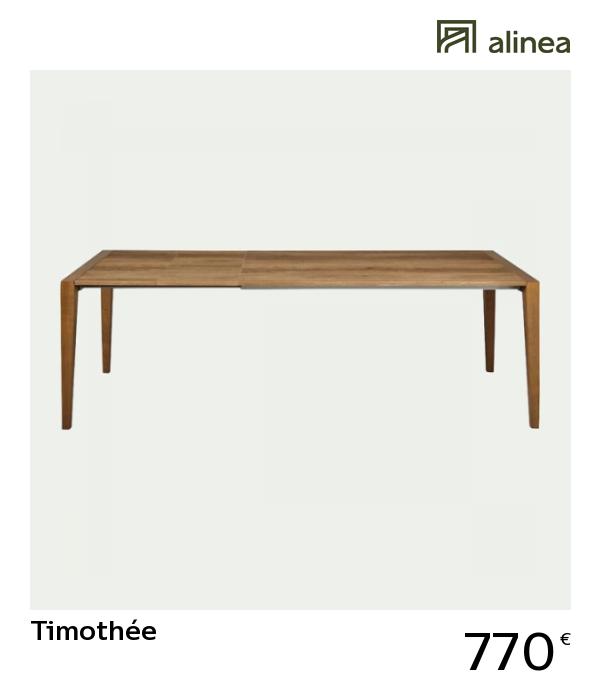 Alinea Timothée Table De Repas Extensible Effet Chêne 6