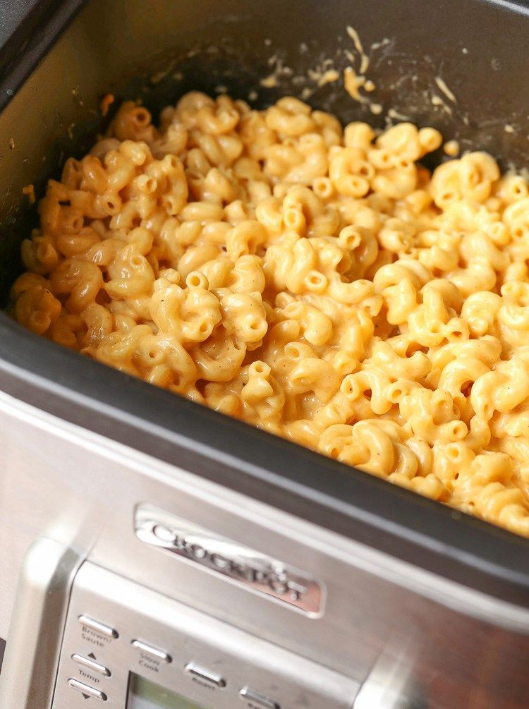 No Boil Crock Pot Slow Cooker Mac And Cheese Recipe Holiday