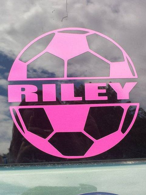 Personalized Car Decals Soccer Team Decals Sports Decal - Team window decals personalized