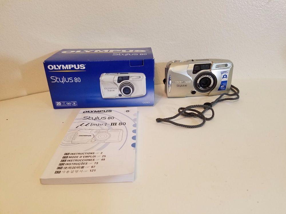 olympus slr stylus 80 camera with instruction manual tested and rh pinterest com olympus mju 1 user manual Olympus Leak Tester Mu 1
