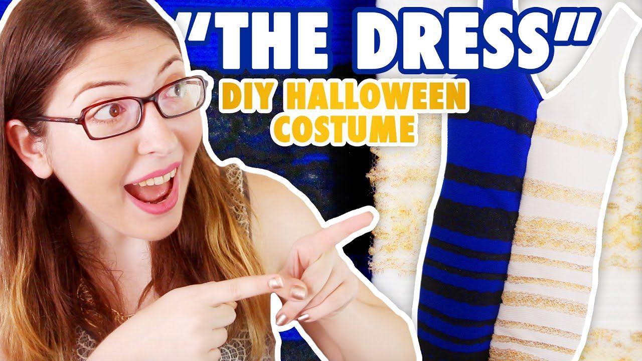 """The Dress"" Meme DIY Halloween Costume Funny Handmade"