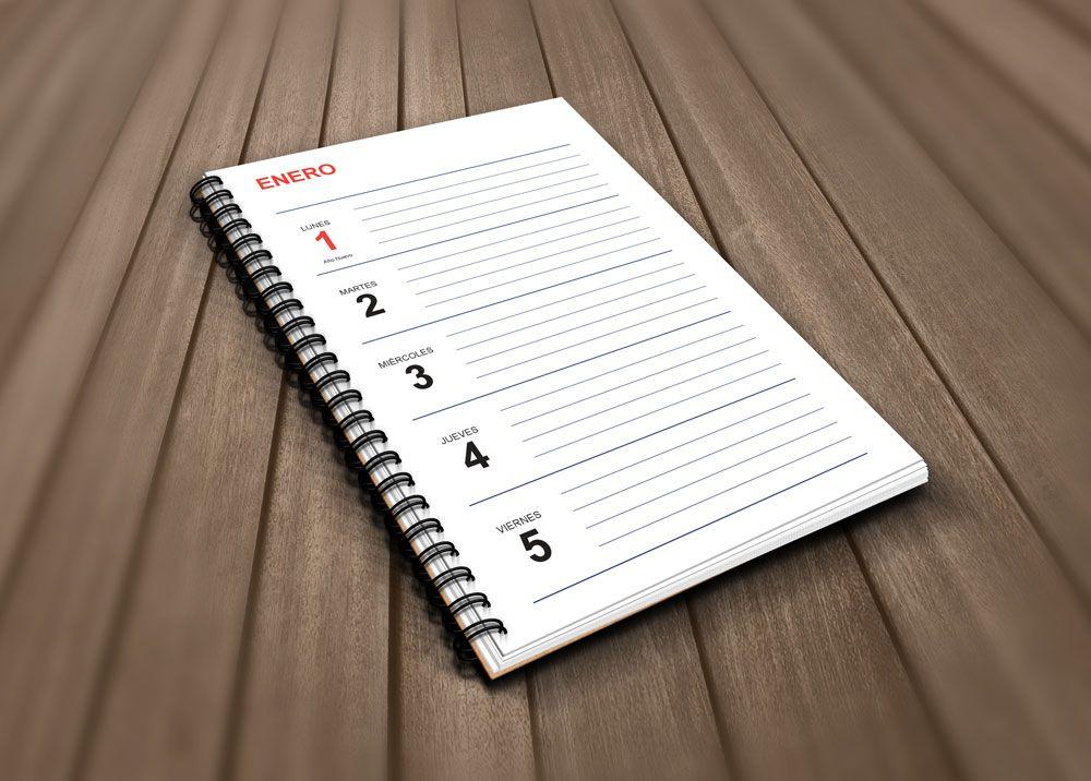 Plantilla Gratis Agenda 2018 Para Imprimir