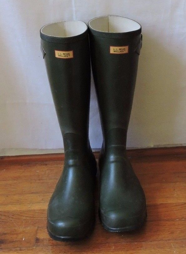 f0717333cc2 L.L. Bean Vintage Green Wellies Women Rain Boots Size 11 #LLBean ...