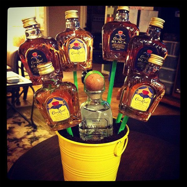 Alcohol bouquet. My kind of flowers