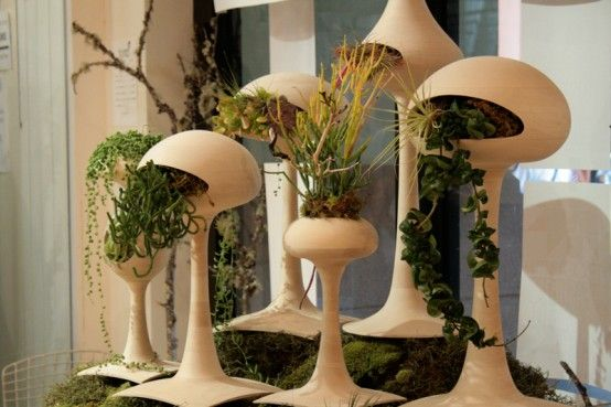 Space age planters