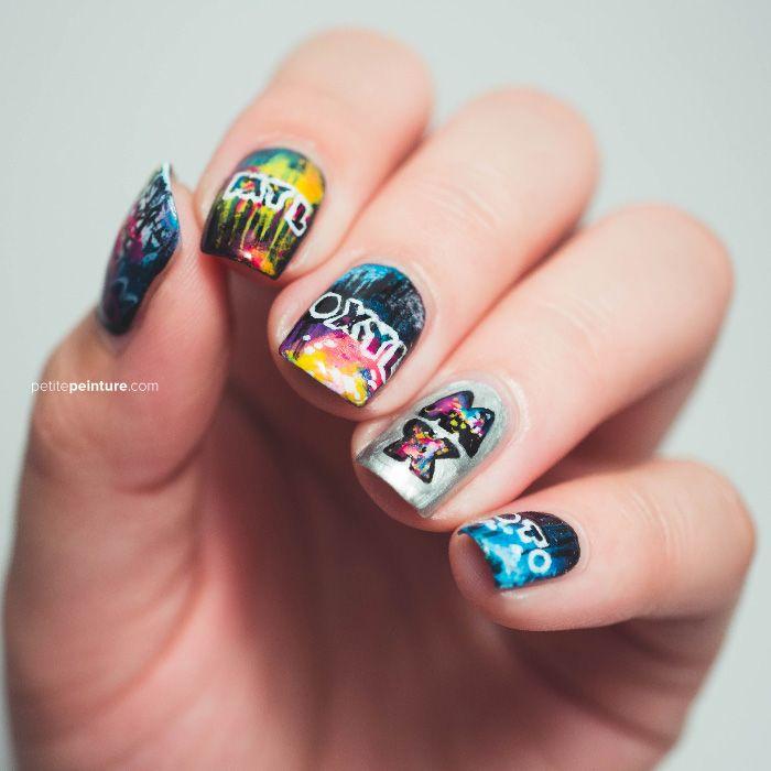 Mylo Xyloto Petite Peinture MllrDesign Twin Nails Nail Art Coldplay ...