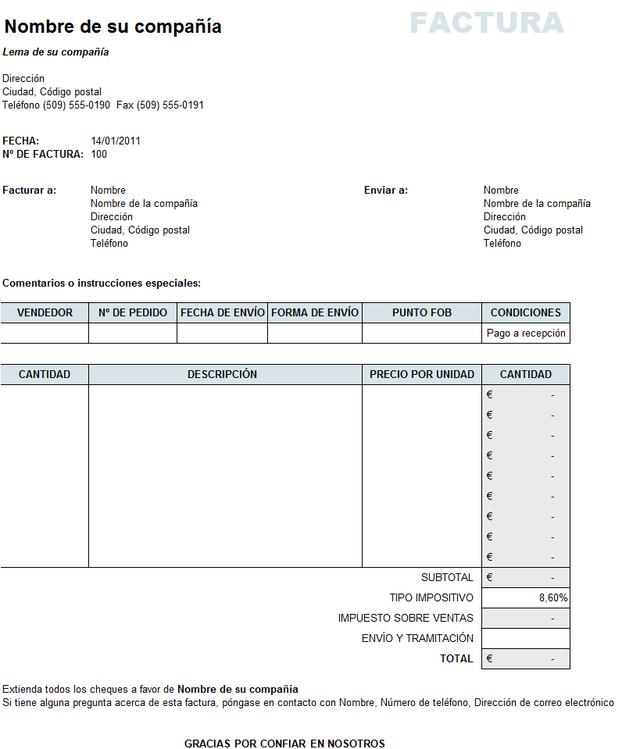 Cómo Hacer Una Factura En Excel Y En Otras Hojas De Cálculo Hojas De Cálculo Contabilidad De Costos Cotizacion Formato