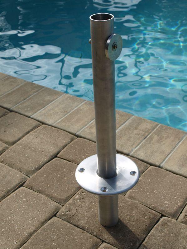 Flush In Ground Mount Patio Umbrella Stand Pool Umbrellas Shading Device