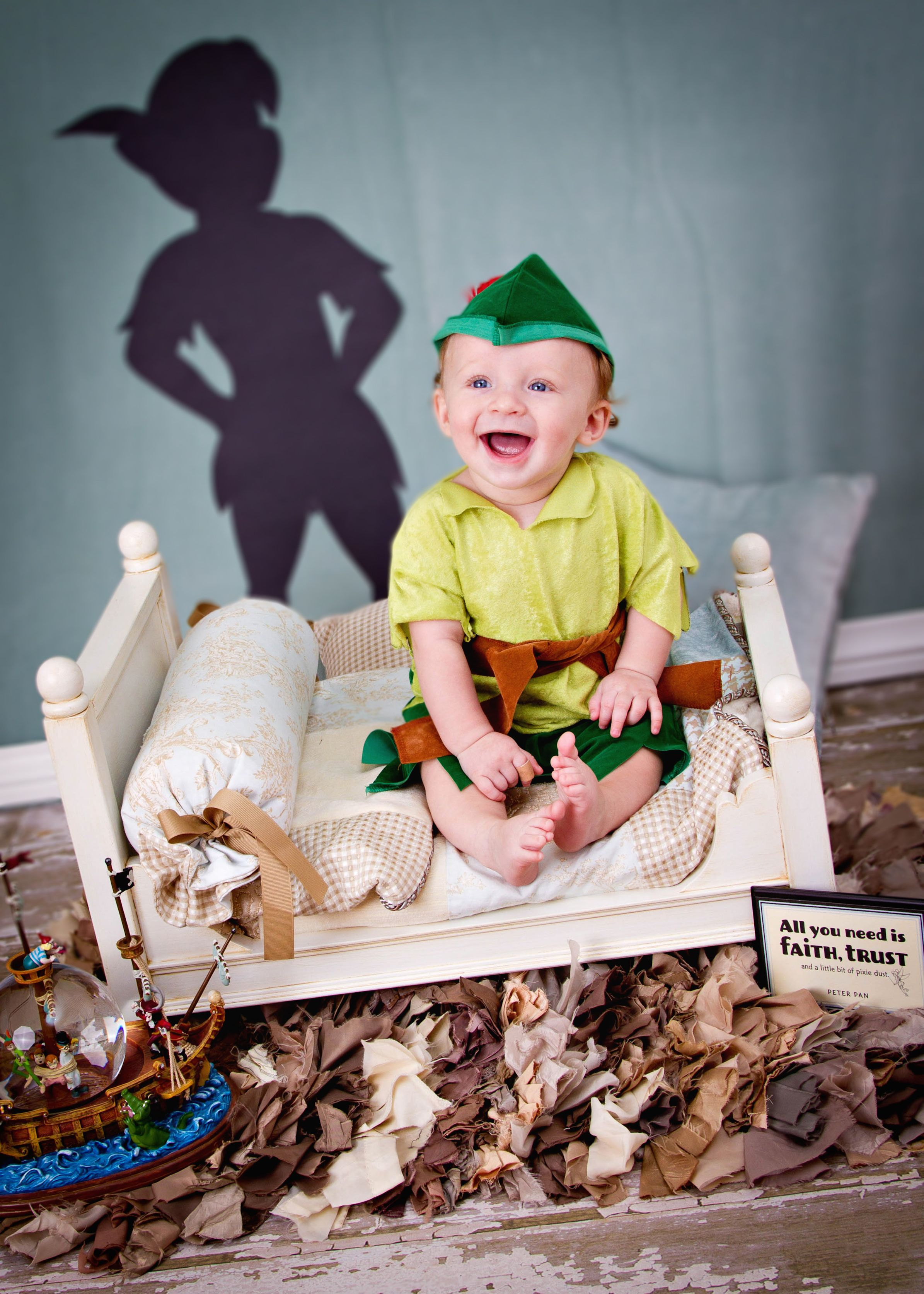 Photo by my life photography baby photography ideas child photography ideas disney baby disney inspired photography peter pan