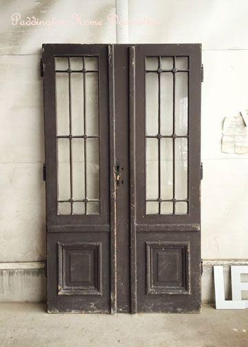 アンティークドア、フレンチドア、アンティークペアドア、ガラスドア、玄関扉、建築部材、建具、アンティーク家具、通販
