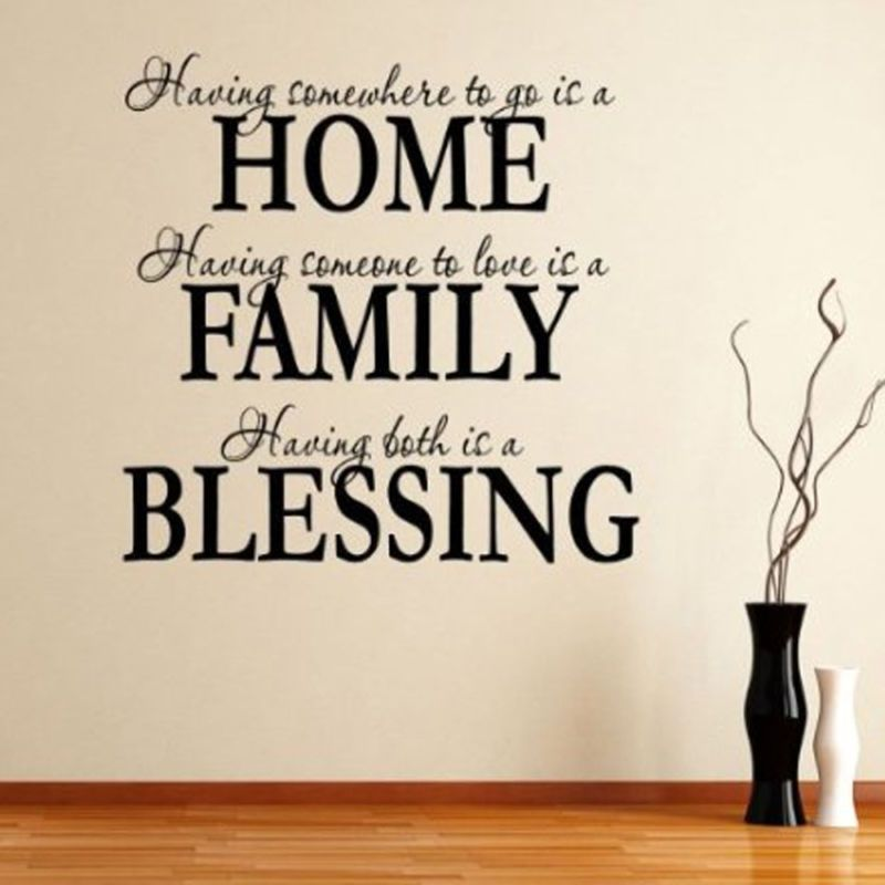 English Quote Saying Art Home Family Blessing Decal Wall ...Quotes About Family English
