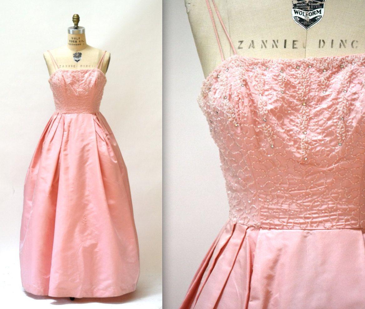 S vintage prom dress size small medium pink s vintage