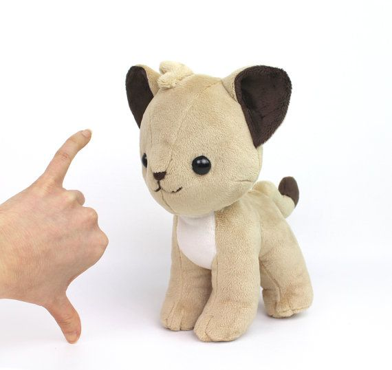 PDF sewing pattern - Lion Cub stuffed animal - chibi cat feline ...