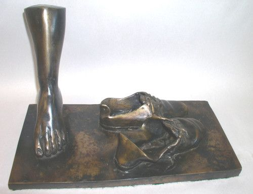 """Outstanding Salvador Dali Signed Bronze """"Foot Shoes"""" 57 200 $950"""