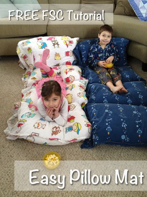 Fuzzysheepcrafts:  easy pillow mat tutorial