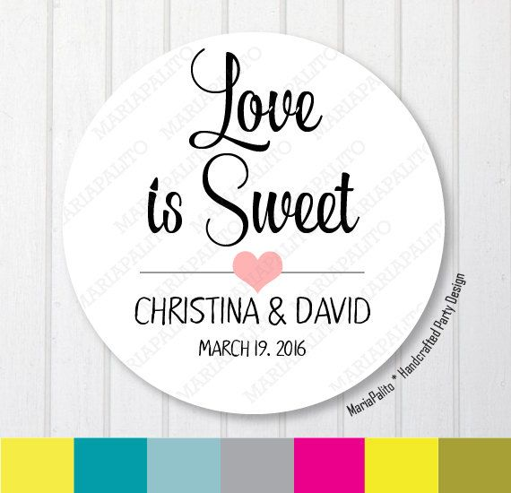 Wedding stickers love is sweet wedding stickers thank you labels printed round stickers tags labels or envelope seals a1267 wedding stickers wedding