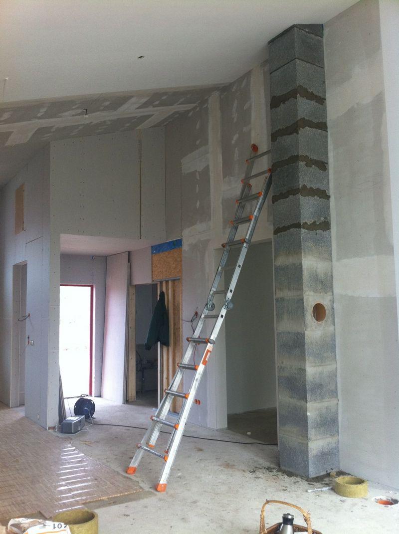 Schornstein Verkleiden Innenraum Wohn Design