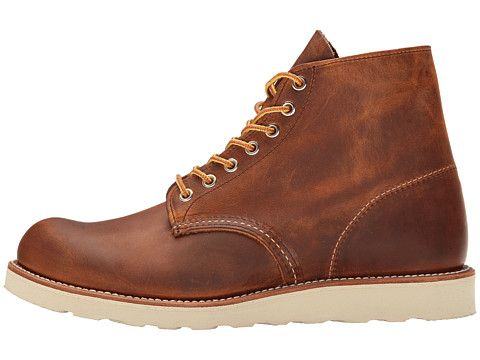 "Red Wing Heritage Classic Work 6"" Round Toe Copper Rough & Tough - Zappos.com Free Shipping BOTH Ways"