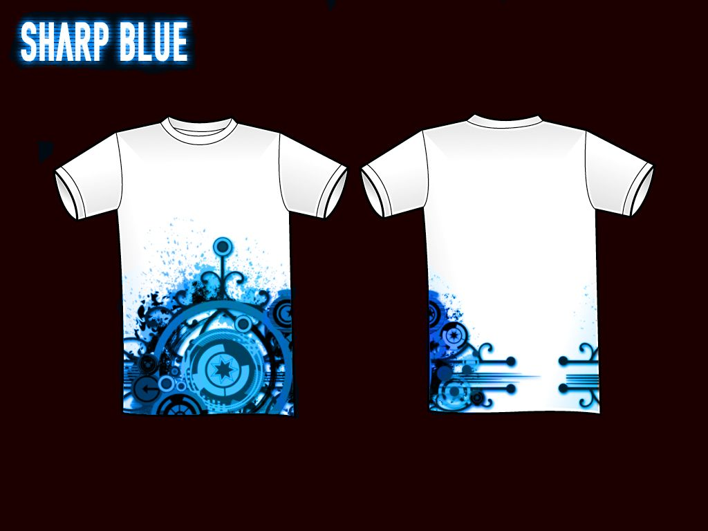 Design t shirt picture - Sharp Blue T Shirt Design By Christ139 On Deviantart