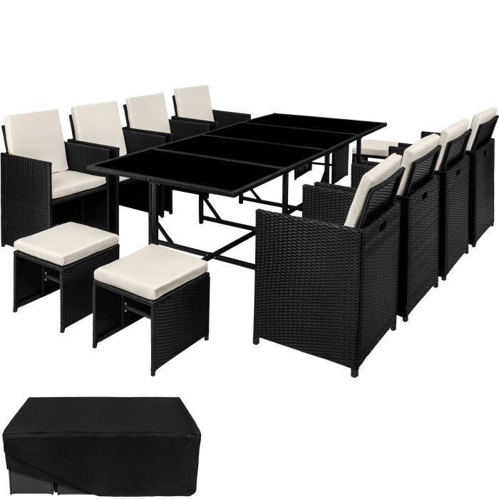 Tectake Salon De Jardin Palma 12 Places Table 8 Chaises Et 4