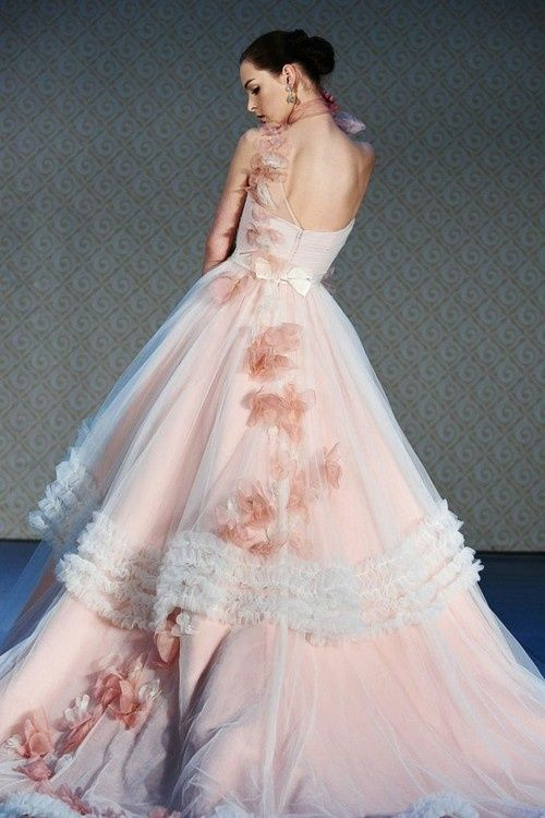 Learn To Live Love Laugh Pink Wedding Gowns Bridal Dress