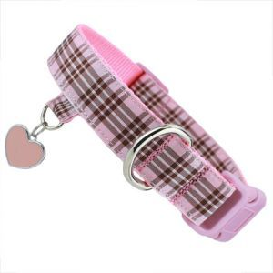 Pink Plaid Collar With Free Charm Plaid Dog Collars Puppy