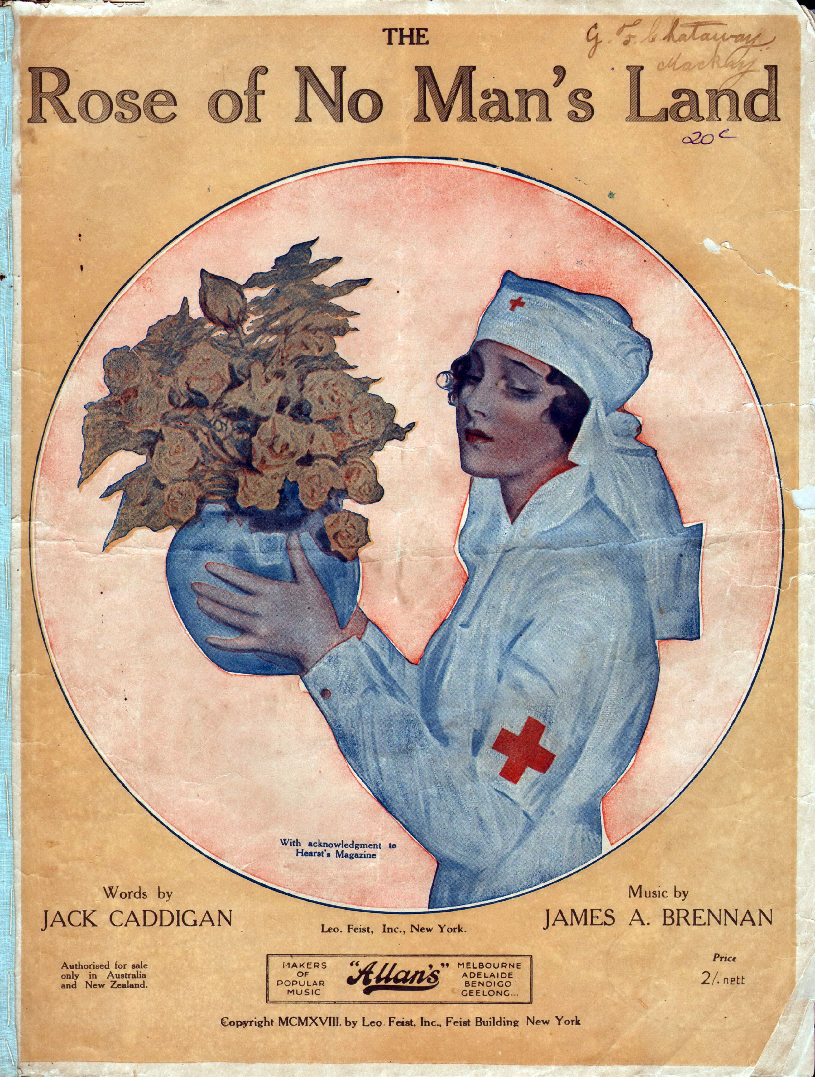 543bb6dd0 Rose Of No Man's Land. 1918. Words by Jack Caddigan. Music by James A.  Brennan.