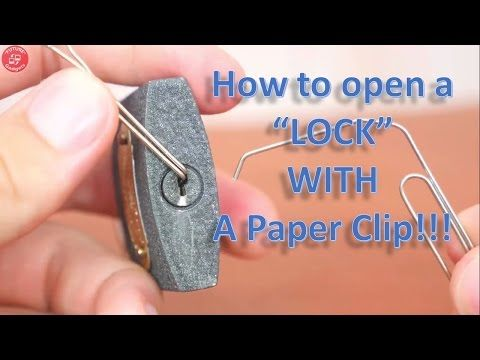 Pick Locks With Paperclips Youtube Diy Lock Paper Clip Hacks Diy