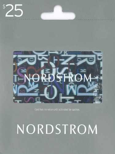 Nordstrom Gift Card $25 | Gift Cards | Pinterest