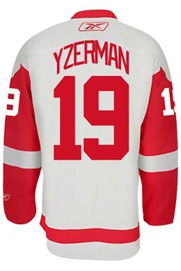 8b63a5ef525 Detroit Red Wings VINTAGE Steve YZERMAN  19  C  Official Away Reebok Premier  Rep CoolHockey. Nhl Hockey JerseysDetroit ...