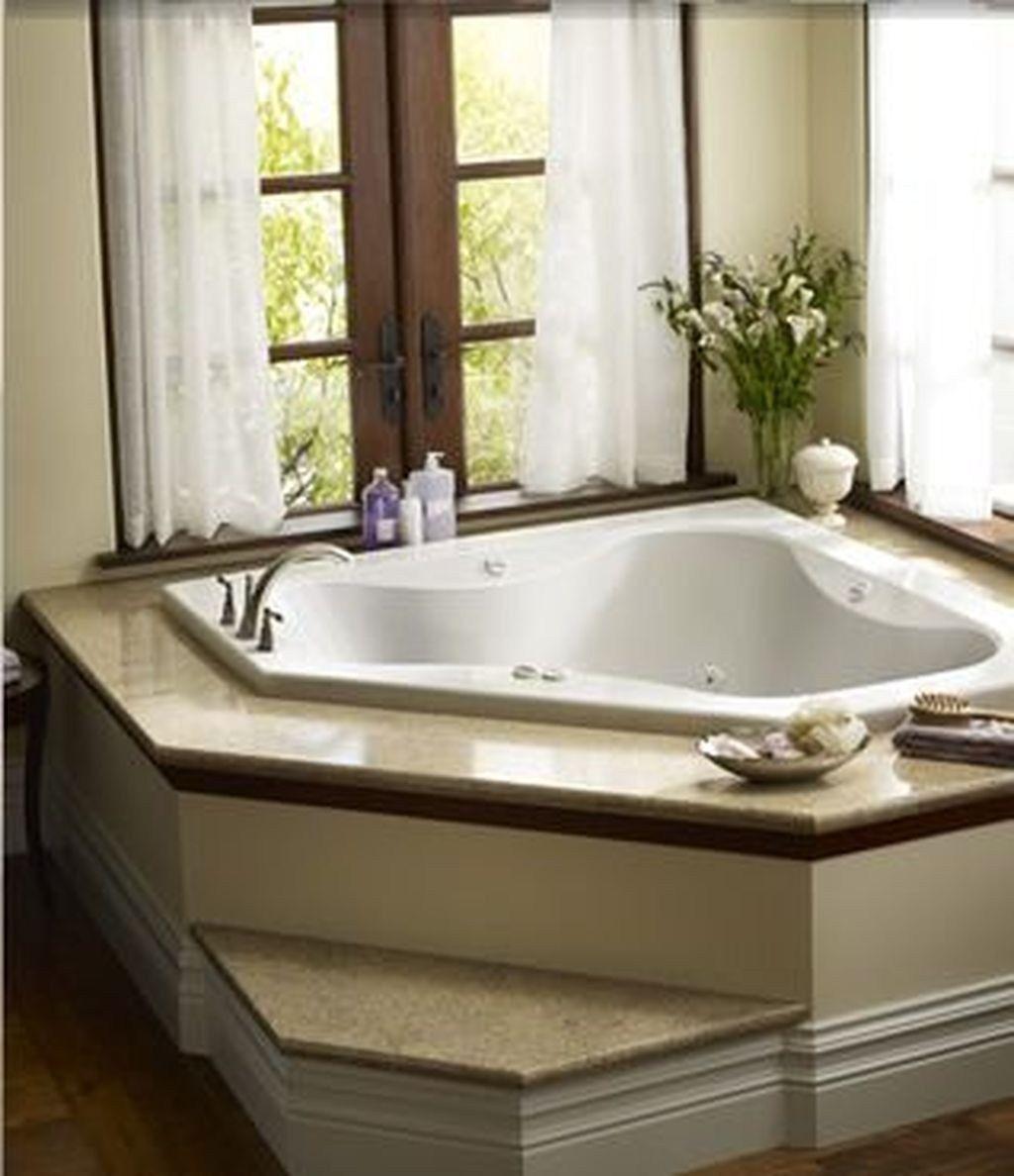 30 Affordable Garden Tub Decorating Ideas Trendhmdcr Corner Tub Bathtub Decor Tub Remodel