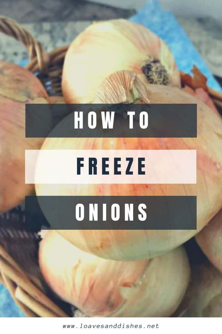Freezing fresh onions is easy its also a great way to