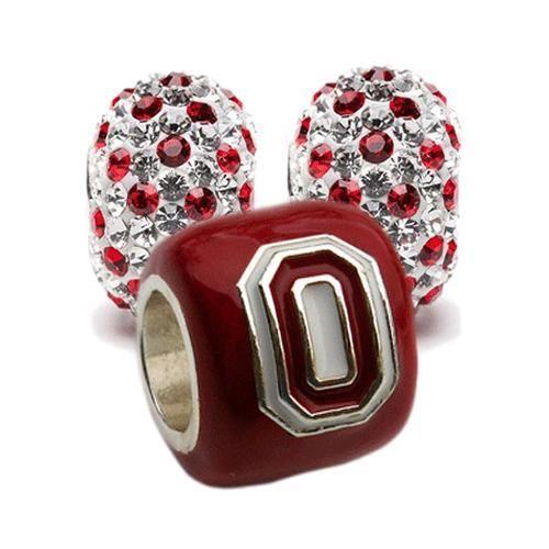 OSU Six Leaf Black Charm OSU Gifts Ohio State Bracelet Charm Ohio State Jewelry