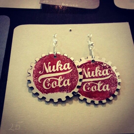 Nuka Cola Earrings on Pyrkon