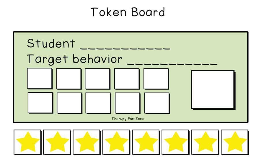 Token Board Template Token Board Token Economy Emotional Skills