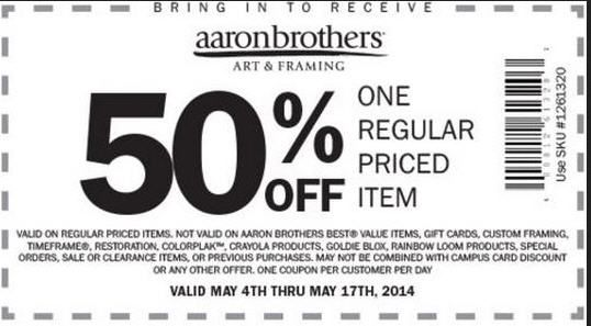 Pinning from GeoQpons for Store Aaron Brothers Art & Framing ...