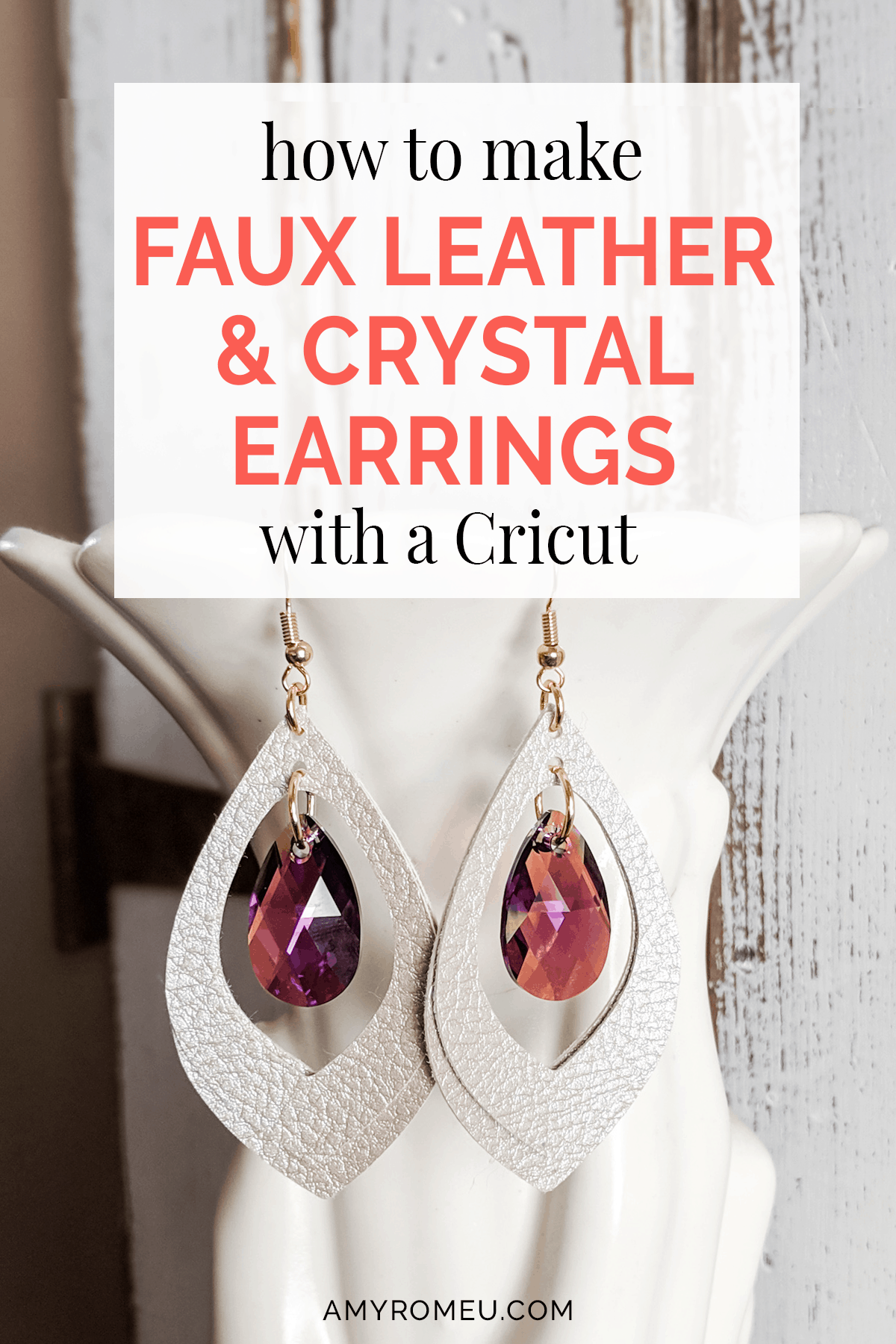 Over 50 Creative Cricut Project Ideas For All Levelscricut Projectsdiy Leather Earrings With The Cricut Ma In 2020 Leather Earrings Hammered Hoop Earrings Faux Leather