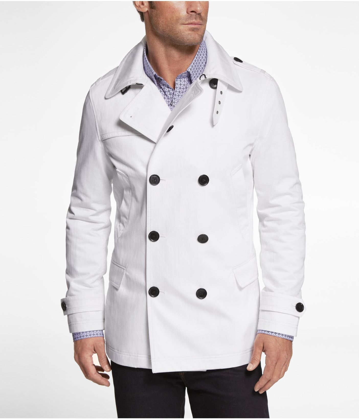 EXPRESS TECH WATER RESISTANT WHITE TRENCH COAT | Express] | Future ...